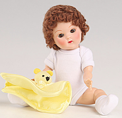 Vogue Brunette Curls Crib Crowd Vintage Repro Ginny Doll (Image1)