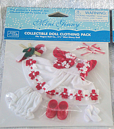 Vogue Mini Ginny Doll Candy Cane Outfit Only, 2013