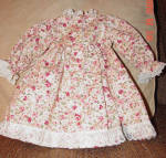 Click to view larger image of Lacy Pink Rose Print Dress for 18 Inch Dolls (Image2)
