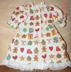 Click to view larger image of Christmas Print Nightgown for 18 Inch Dolls (Image2)