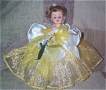 Click here to enlarge image and see more about item ALX2015: Madame Alexander Yellow Daffodil Cissette Doll 2000
