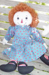 Click here to enlarge image and see more about item APR0004: Applause 85th Birthday Collector Raggedy Ann Doll 1999