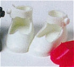 Click here to enlarge image and see more about item BMT0300a: White Tiny Betsy McCall Doll Shoes