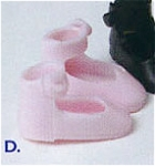 Click here to enlarge image and see more about item BMT0300d: Pink Tiny Betsy McCall Doll Shoes