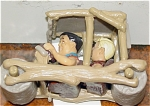 Flintstones Fred and Barney in Car PVC Figure 1994