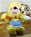 Click here to enlarge image and see more about item DMB0037D: Disney Scarecrow Mickey Mouse Bean Bag 1997-98