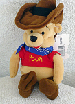 Click here to enlarge image and see more about item DMB0052F: Disney Mousketoys Cowboy Pooh Mini-Bean Bag 1998-99
