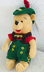 Click here to enlarge image and see more about item DMB0052G: Disney Mousketoys October Fest Pooh Mini-Bean Bag 98-99