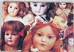 Click here to enlarge image and see more about item DMS0012: Beautiful Doll Guest Book Antique Pictures on Cover