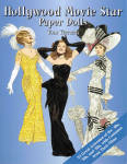 'Hollywood Movie Star Paper Dolls' by Tom Tierney, published by Dover Publishing and copyrighted in 2002 has 120 pages with 24 female paper dolls and 96 full color costumes from their movies from the 1920s through the 1960s, all to be cut out.  The stars and outfits include Rita Hayworth, Audrey Hepburn, Barbra Streisand, Julie Andrews, Natalie Wood, and many other silver screen luminaries, plus 96 perfectly accurate costumes from their best movies. Captions identify the film and year of each outfits. Some of the movies the costumes represent are Calamity Jane, David and Bathsheba, Sound of Music, Funny Girl, Cat on a Hot Tin Roof, My Fair Lady, Father of the Bride, and much more. The cover gives a synopsis of each actress and the movie her costumes are taken from. This is a wonderful book packed with paper dolls, movies, and interesting facts. New, mint condition.