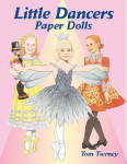 Click here to enlarge image and see more about item DOV0018: Little Dancers Paper Dolls, Tierney, Dover, 2002