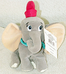 Click here to enlarge image and see more about item DSB0032A: Disney Store Dumbo Mini Bean Bag Without Feather