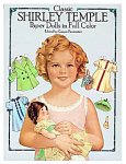 Classic Shirley Temple Paper Dolls in Full Color booklet is edited by Grayce Piemontesi and published in 1986 by Dover Publications. This is a compilation of the paper dolls originally published by Saalfield Publishing Co. in 1935-1936. It has 16 pages of paper dolls and outfits. The outfits are from the 1930s era and do not seem to represent the movies. There are three paper dolls with curly blonde hair and brownish or hazel eyes. The largest paper doll is almost 21 inches tall and covers 2 pages. The 10.25 inch paper doll is two-sided with front and back view with two-sided outfits. The smallest is slightly under 6 inches in size. The booklet has a total of 18 color 1930s styled outfits for a Shirley that is approximately 6 years old. There's 5 large paper doll outfits, 10 two-sided outfit, and 3 small paper doll outfits.  These paper dolls are on heavy paper and need to be cut out. Standard shipping within the USA is USPS Priority with Shipsurance insurance. 1 or 2 booklets fit into flat rate Priority Mail envelopes. If slower shipping, lower priced media rate shipping is desired, please note that in the comments section of your order form, and the rate will be adjusted. Booklet is new.