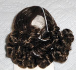 Click here to enlarge image and see more about item DWG0001B: Dark Brown Curls Wig for 3.5-5 in. Doll Heads, 7-10 in. Dolls