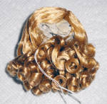 Click here to enlarge image and see more about item DWG0001C: Honey Blonde Curls Wig for 3.5-5 in. Doll Heads, 7-10 in. Dolls