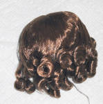 Click to view larger image of Light Brown Curls Wig for 3.5-5 in. Heads, 7-10 in. Dolls (Image2)