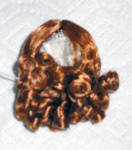 Click here to enlarge image and see more about item DWG0001E: Red  Curls Wig for 3.5-5 in. Doll Heads, 7-10 in. Dolls