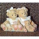 Click here to enlarge image and see more about item ECT0001: Cherished Teddies Two Friends Figurine No. 127981