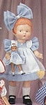 Click here to enlarge image and see more about item EFF0301: Effanbee Bisque Patsy with Vinyl Wee Patsy Doll Set 1996