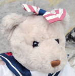 Click to view larger image of Vanilla Light Tan 14 In. Gund Bear in Patriotic Ensemble (Image2)