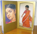 Click here to enlarge image and see more about item HKE0252: Kish 2002 Keela of India Doll, Book Set, American Girls, MIB
