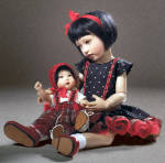 Click here to enlarge image and see more about item HKE0842: Suchin and Sasha Doll BJD Set, 2012, Helen Kish