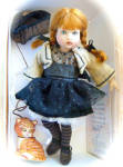 Click here to enlarge image and see more about item HKE0862: Riley City Chic 8 in. BJD Doll, 2014 Helen Kish