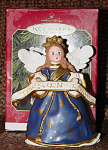 Click here to enlarge image and see more about item HMA1002: Hallmark Madame Alexander Angel of the Nativity Ornament