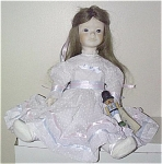 Click here to enlarge image and see more about item JER0001: Jerri Bisque Clara Doll of Nutcracker Suite 1980