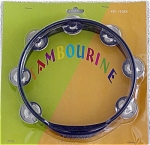 New Kima 8 inch Round Heavy Plastic Black Tambourine, in cellophane package with backing. The tambourine has 7 cymbal-type ringers. It is just the thing for playing rhythms, jams, rejoicing, and aiding in numerous styles of music and joyful noise. This was manufactured 2005. It is in new, mint, unused condition, in its window package. Expand listing to view both photographs.