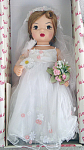 Click here to enlarge image and see more about item KNI0002: Knickerbocker Terri Lee Millenium Bride Doll, New 2000