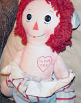 Click to view larger image of Preloved Knickerbocker 1976 Raggedy Andy Doll 16 Inches (Image4)
