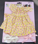 Click here to enlarge image and see more about item LSD0010A: Lennon Sisters Yellow Print 16 in. Kathy Rag Doll Dress