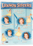 Click here to enlarge image and see more about item LSP0003: Aqua Lennon Sisters Singing Stars Paper Dolls