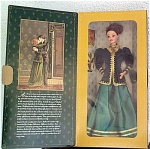 Click here to enlarge image and see more about item MAT0271: 1996 Hallmark Yuletide Romance Barbie Doll