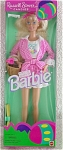 Click here to enlarge image and see more about item MAT0299A: Russell Stover Candies Barbie Doll in Shorts 1995