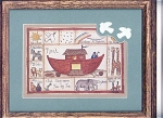 Click here to enlarge image and see more about item MSC0007: Noah's Ark Drawing in Frame with Glass