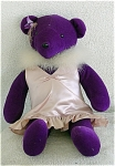 Click here to enlarge image and see more about item NAB0002: North American Bear Co. Purple Bear 1979