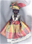 Click here to enlarge image and see more about item NAT0015: Small Caribbean Islands-Type Black Doll