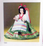 Click to view larger image of Vintage Italitan 7.5 inch Nationality Doll (Image2)