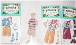 Click here to enlarge image and see more about item PDM0026H: Peck Aubry Eric's Adventure Paper Doll Set 1997