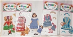 Click here to enlarge image and see more about item PDM0026L: Peck Aubry Anna's Adventure Kidoodles Paper Doll Set