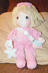 Click here to enlarge image and see more about item PMA0114: Applause Precious Moments Jamie New Baby Doll 1990