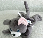 Click here to enlarge image and see more about item PMC0291L: Precious Moments Jacob the Gray Cat Bean Bag Pal
