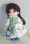 Click here to enlarge image and see more about item PMC0320B: Precious Moments Co. Picnic Keely Doll 1998