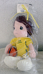 Click here to enlarge image and see more about item PMC0321A: Precious Moments Benson Basketball Player Doll 1997