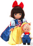 Click here to enlarge image and see more about item PMC0662: Precious Moments Snow White and Happy Doll, Disney 2003
