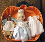 Click to view larger image of Precious Moments Once Upon a Time Cinderella Doll Set Disney (Image1)