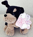 Click to view larger image of Enesco Tender Tails Precious Moments Rottweiler Plush (Image1)