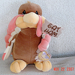 Click to view larger image of Large Enesco Precious Moments Tender Tails Turkey with Sign (Image1)